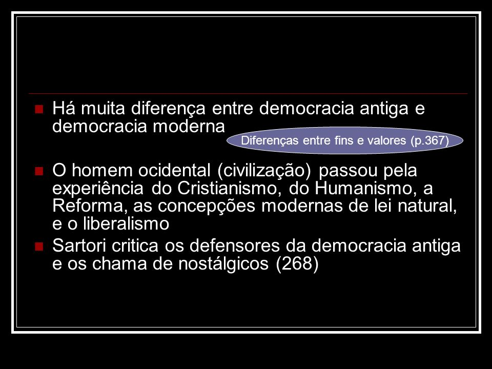 Diferenças entre fins e valores (p.367)