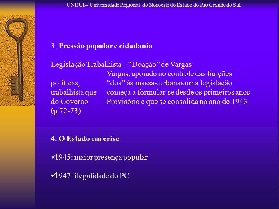 3. Pressão popular e cidadania