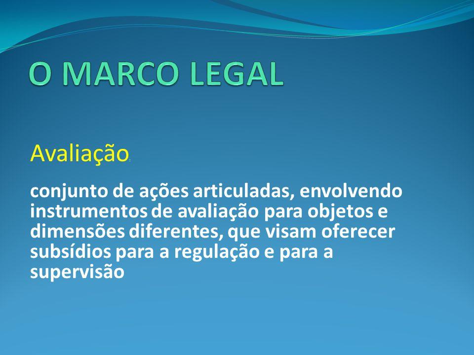O MARCO LEGAL Avaliação: