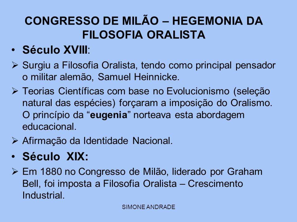 CONGRESSO DE MILÃO – HEGEMONIA DA FILOSOFIA ORALISTA