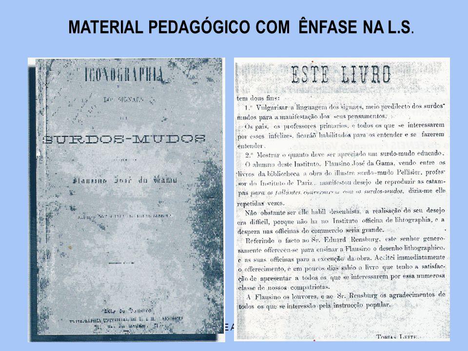 MATERIAL PEDAGÓGICO COM ÊNFASE NA L.S.