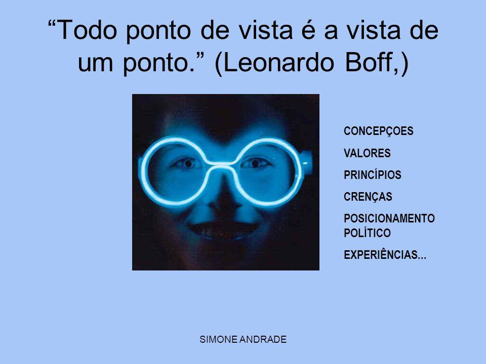 Todo ponto de vista é a vista de um ponto. (Leonardo Boff,)