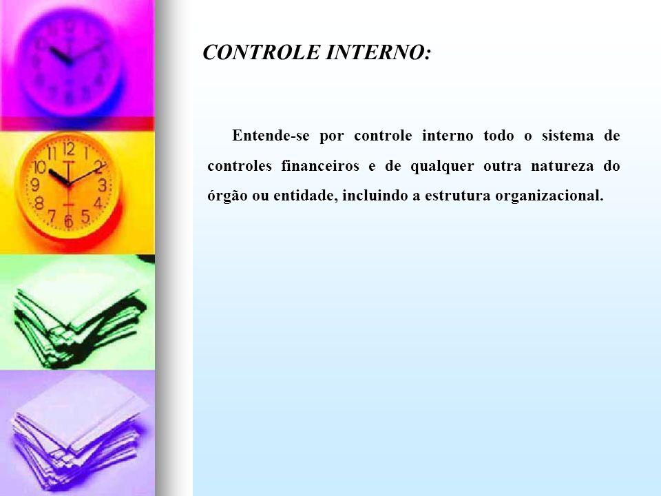 CONTROLE INTERNO: