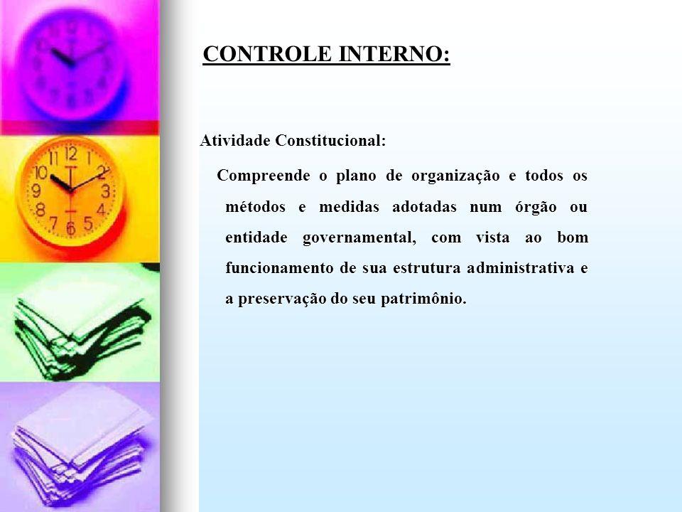 CONTROLE INTERNO: Atividade Constitucional: