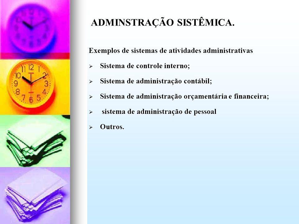 ADMINSTRAÇÃO SISTÊMICA.
