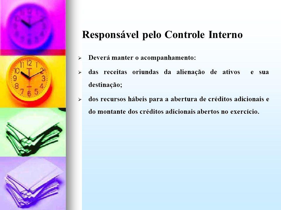 Responsável pelo Controle Interno