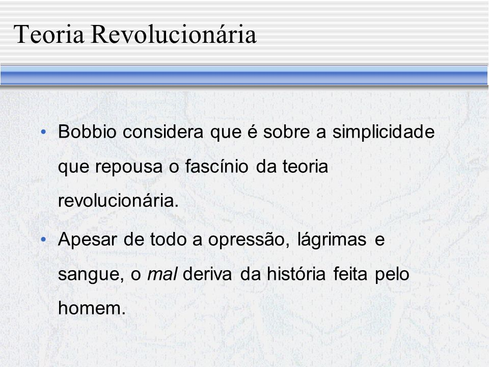 Teoria Revolucionária