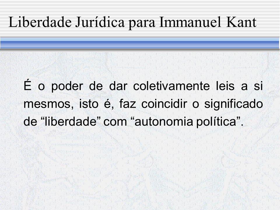 Liberdade Jurídica para Immanuel Kant