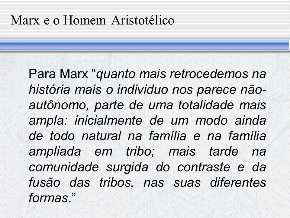 Marx e o Homem Aristotélico