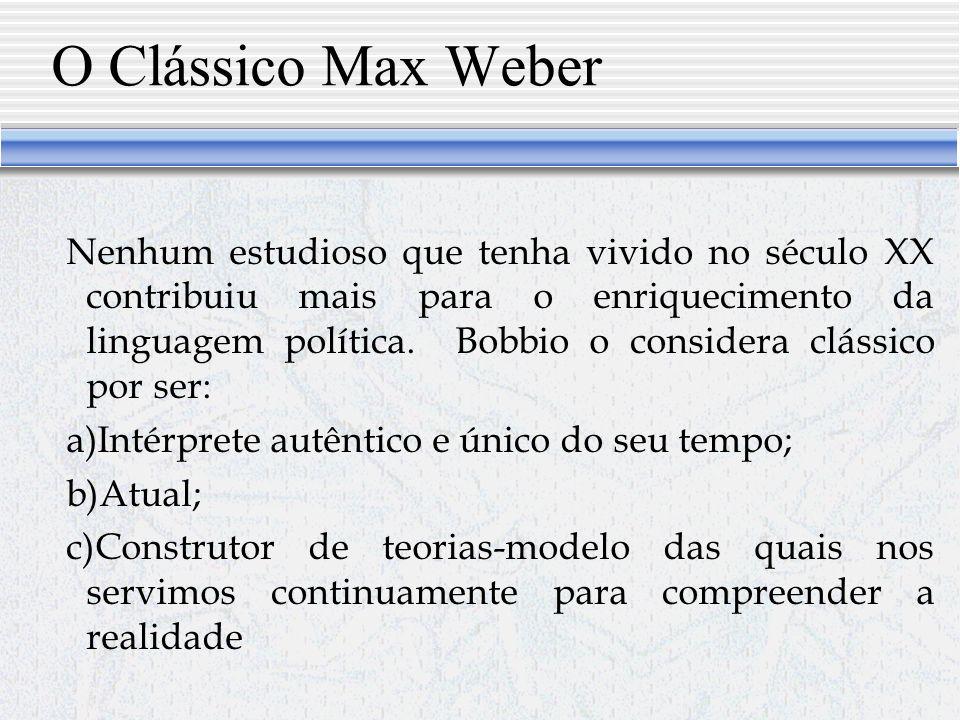 O Clássico Max Weber