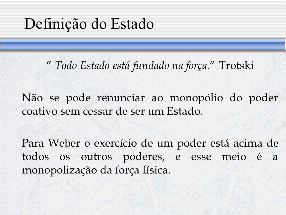 Todo Estado está fundado na força. Trotski