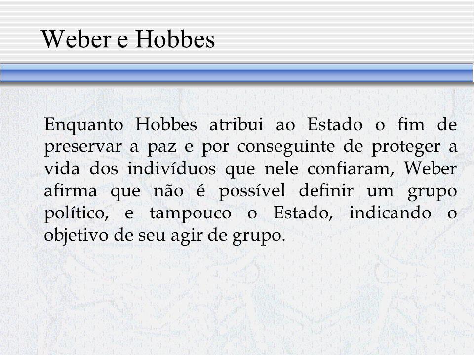 Weber e Hobbes