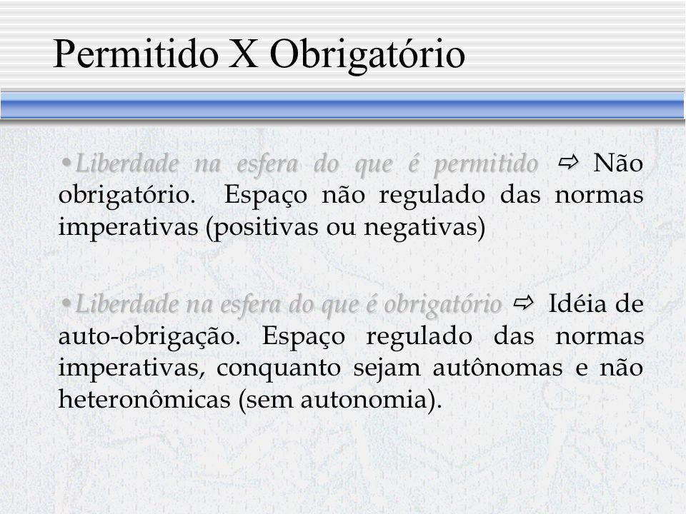 Permitido X Obrigatório
