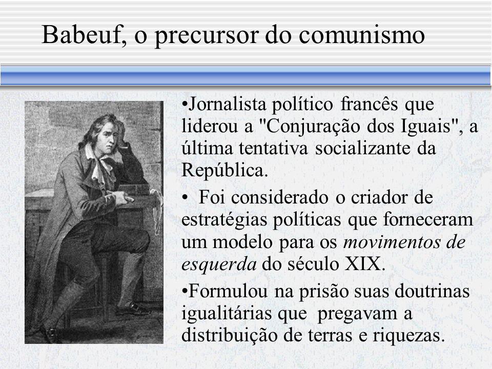 Babeuf, o precursor do comunismo