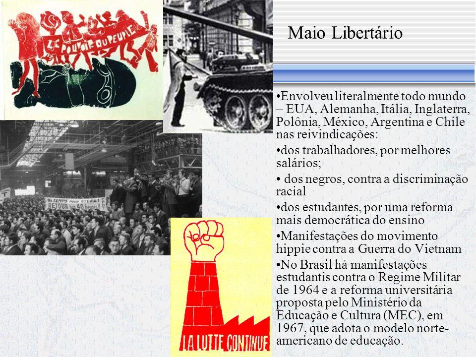 Maio Libertário Envolveu literalmente todo mundo – EUA, Alemanha, Itália, Inglaterra, Polônia, México, Argentina e Chile nas reivindicações:
