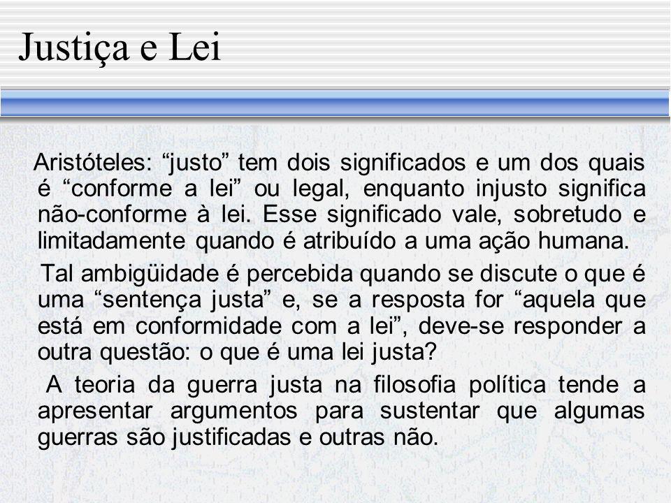 Justiça e Lei