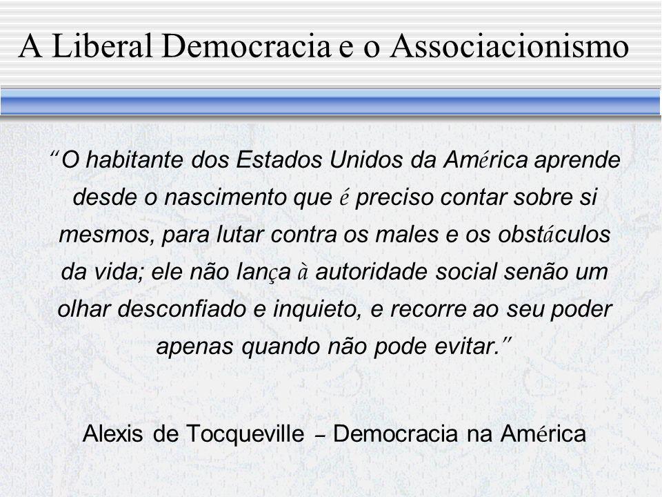 A Liberal Democracia e o Associacionismo
