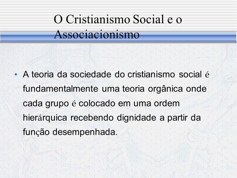 O Cristianismo Social e o Associacionismo