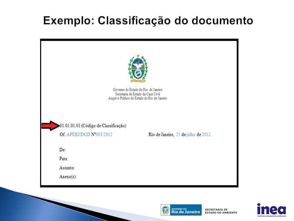 Exemplo: Classificação do documento