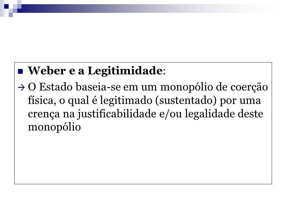 Weber e a Legitimidade: