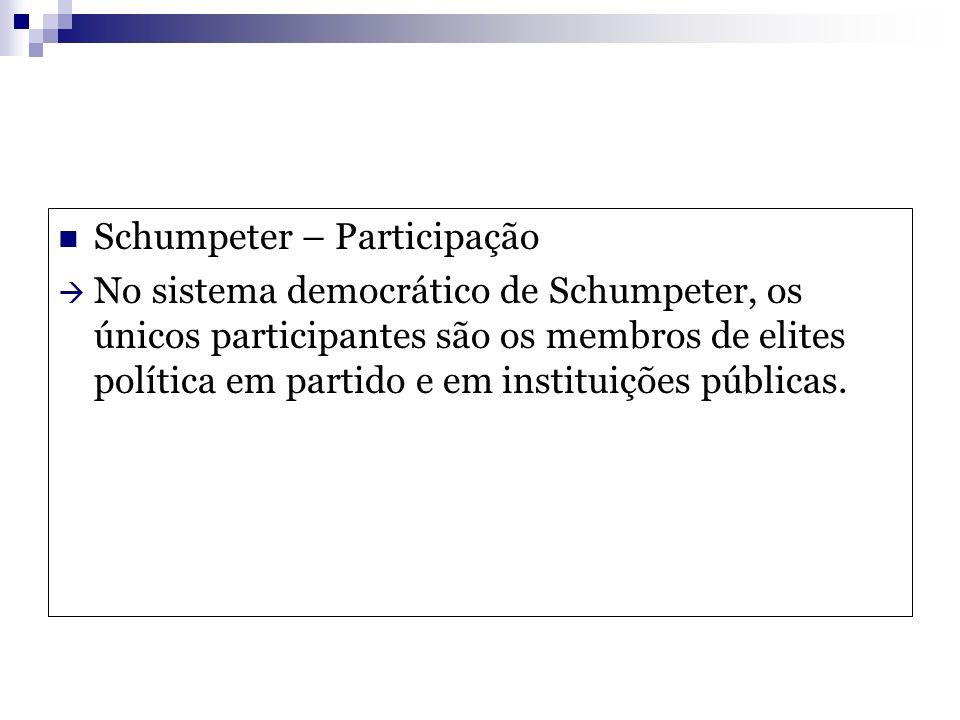 Schumpeter – Participação