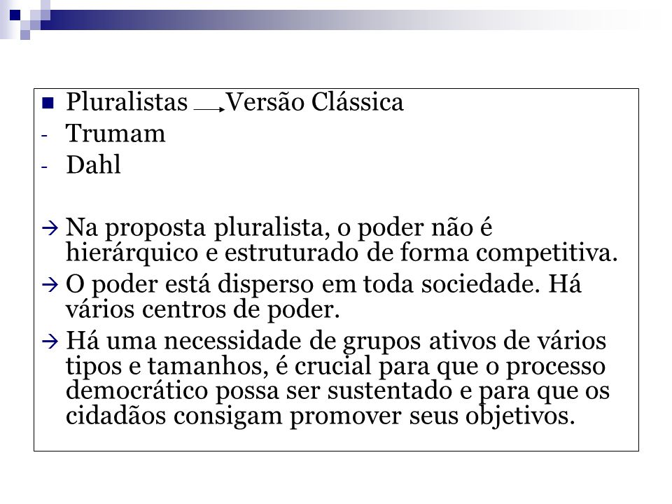 Pluralistas Versão Clássica
