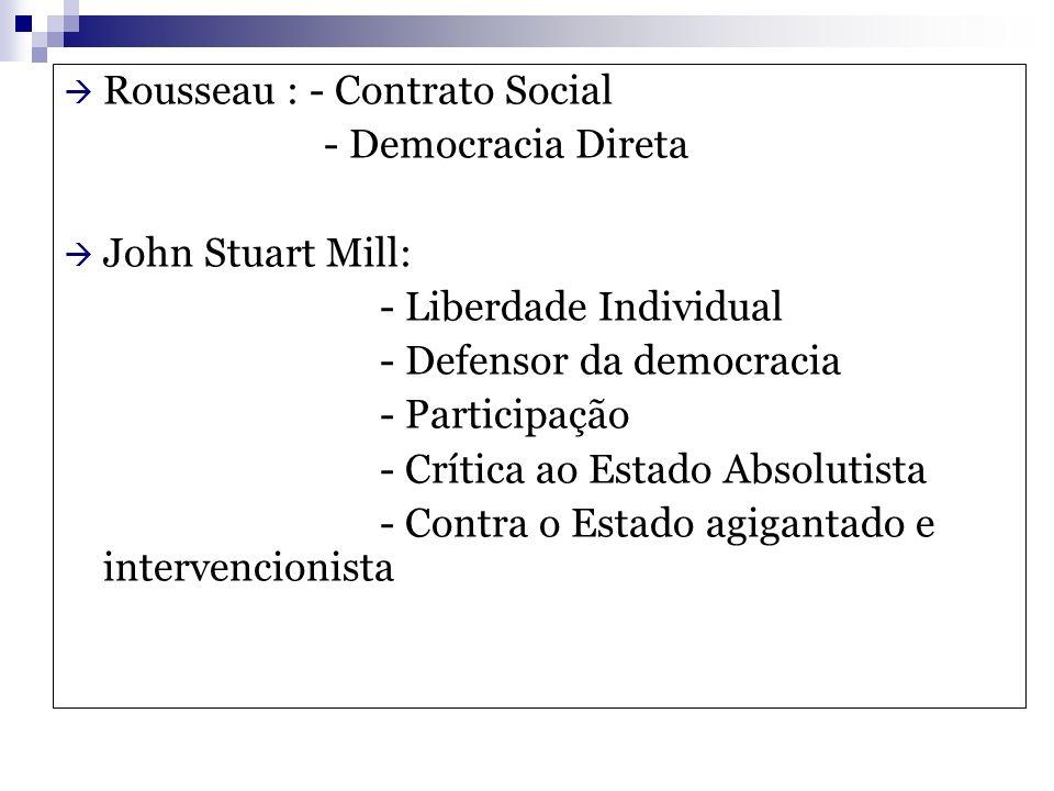 Rousseau : - Contrato Social