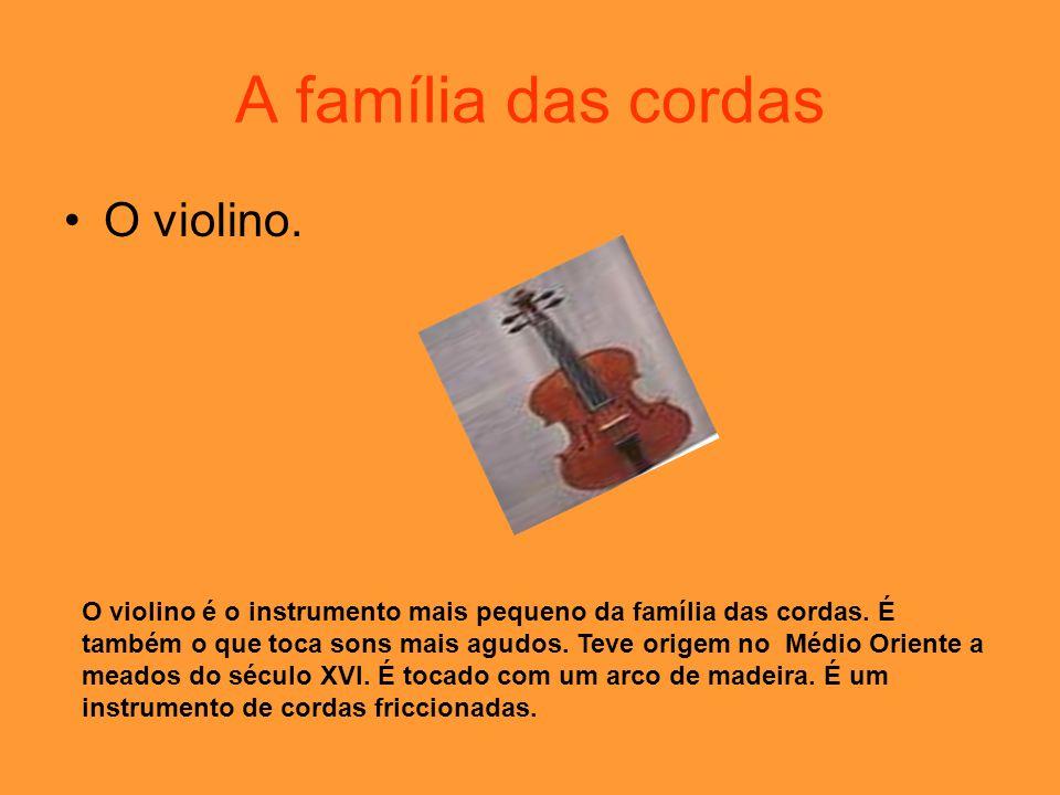 A família das cordas O violino.
