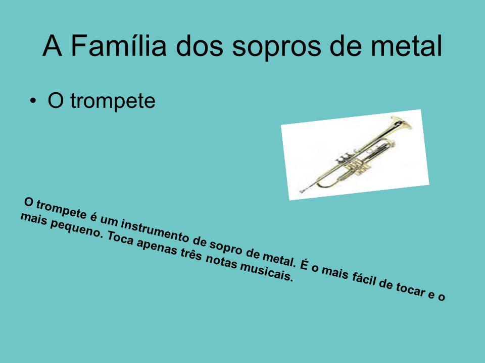 A Família dos sopros de metal