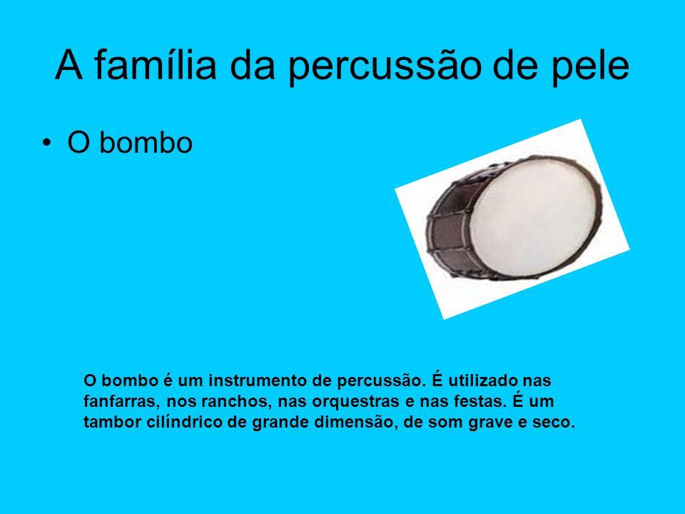 A família da percussão de pele