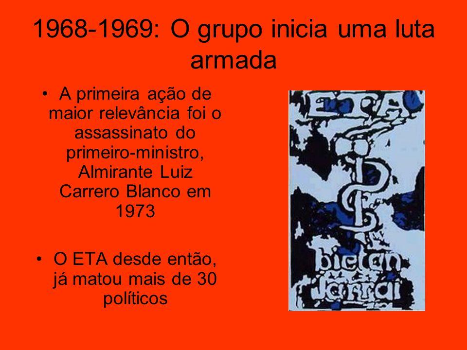 1968-1969: O grupo inicia uma luta armada