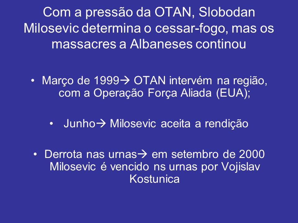 Junho Milosevic aceita a rendição