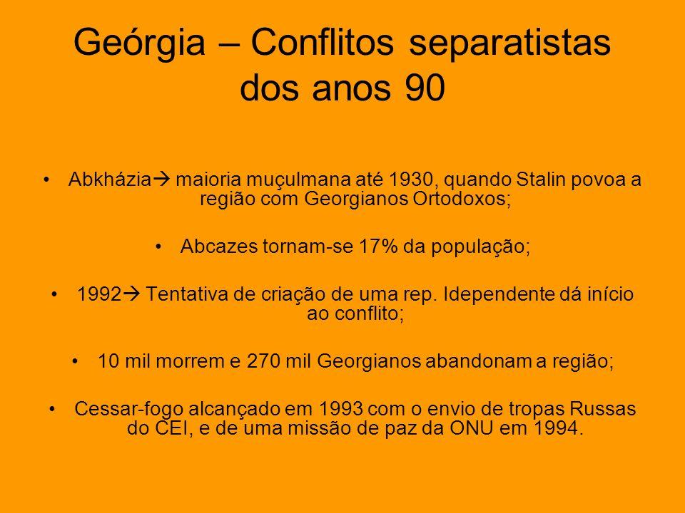 Geórgia – Conflitos separatistas dos anos 90