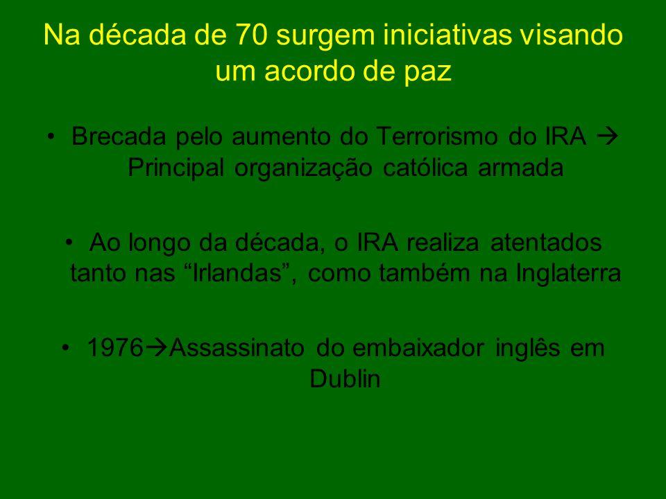 Na década de 70 surgem iniciativas visando um acordo de paz