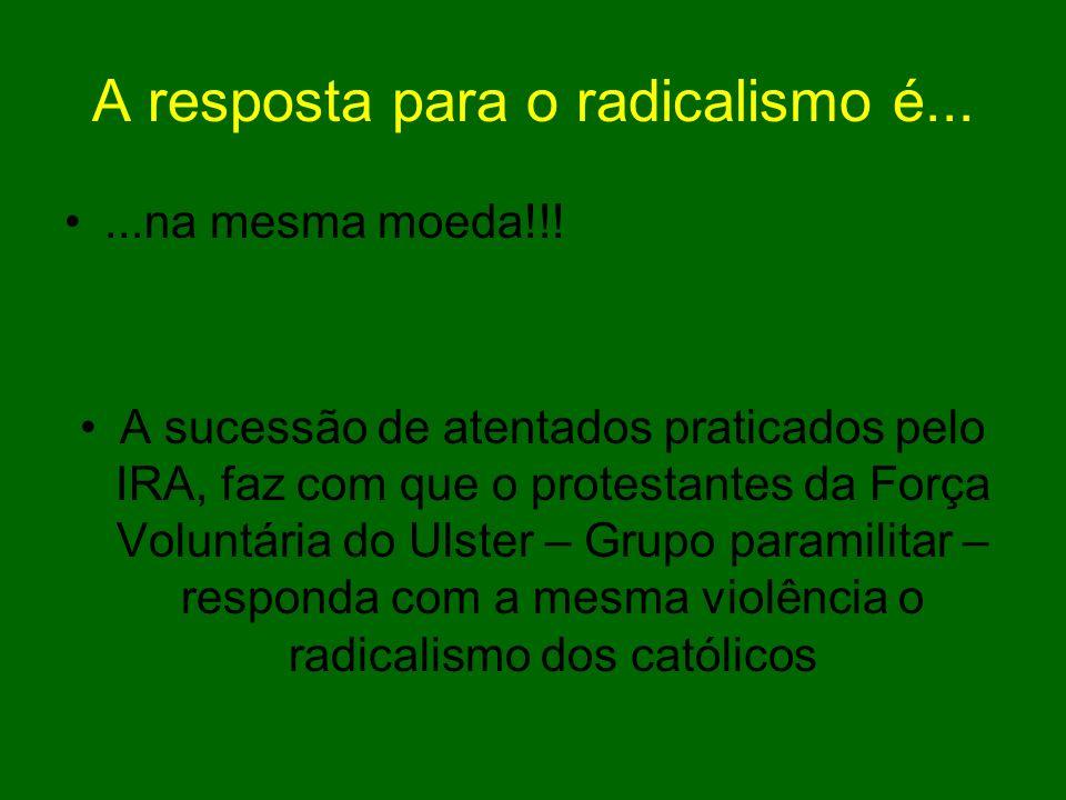 A resposta para o radicalismo é...
