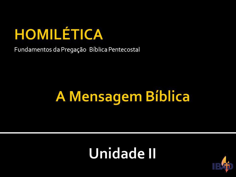 Fundamentos da Pregação Bíblica Pentecostal