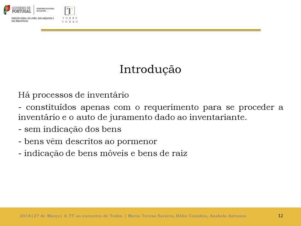 Introdução Há processos de inventário