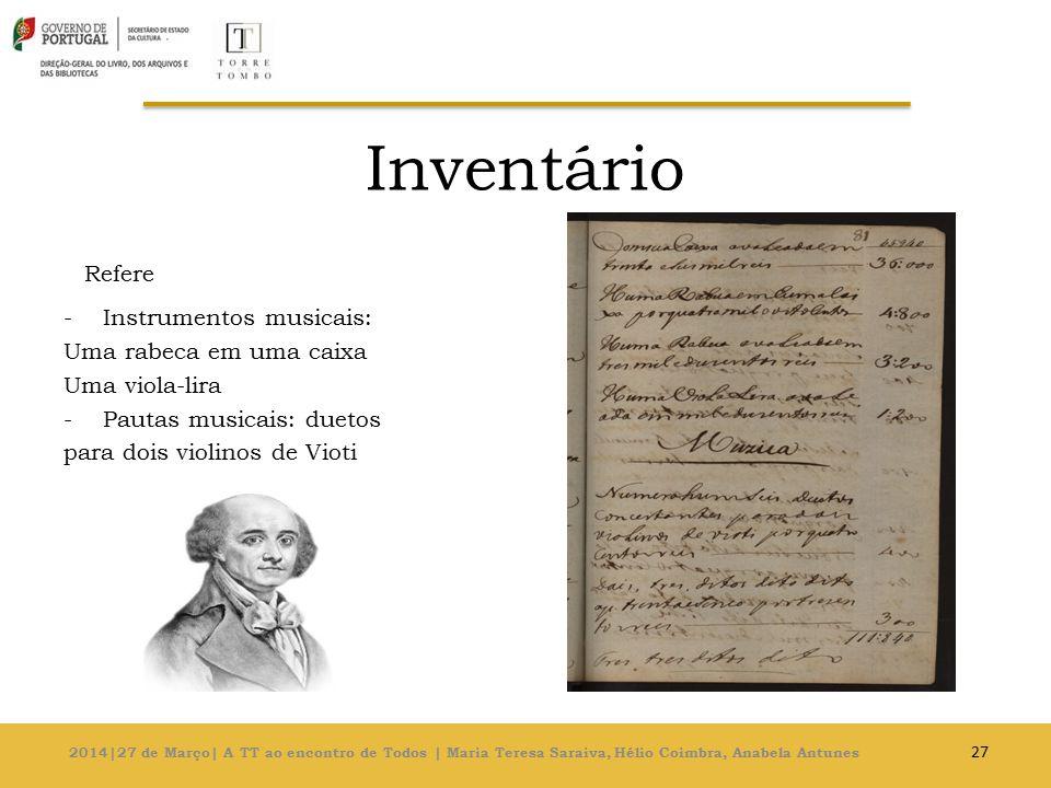 Inventário Refere Instrumentos musicais: Uma rabeca em uma caixa