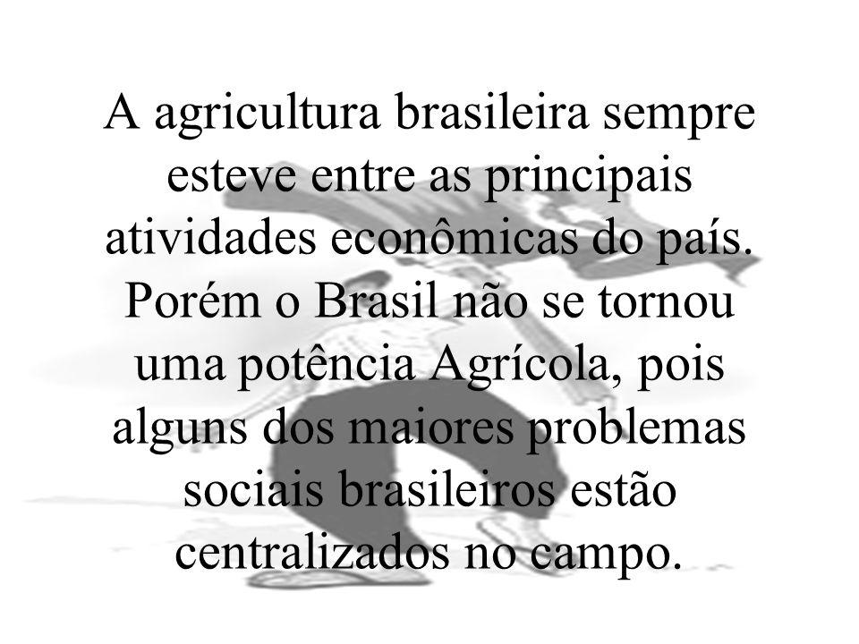 A agricultura brasileira sempre esteve entre as principais atividades econômicas do país.