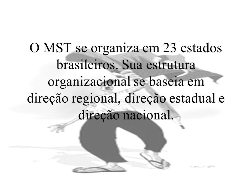O MST se organiza em 23 estados brasileiros