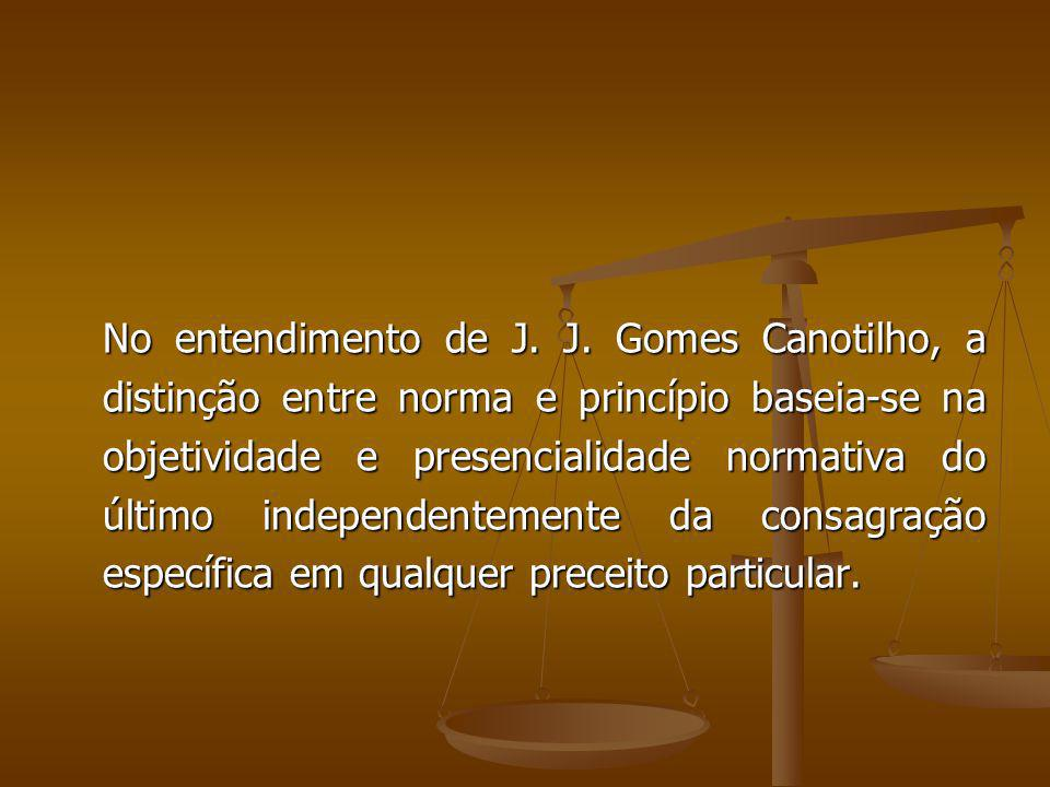 No entendimento de J. J.
