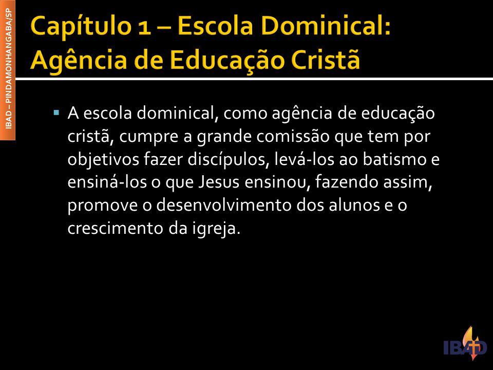 Capítulo 1 – Escola Dominical: Agência de Educação Cristã