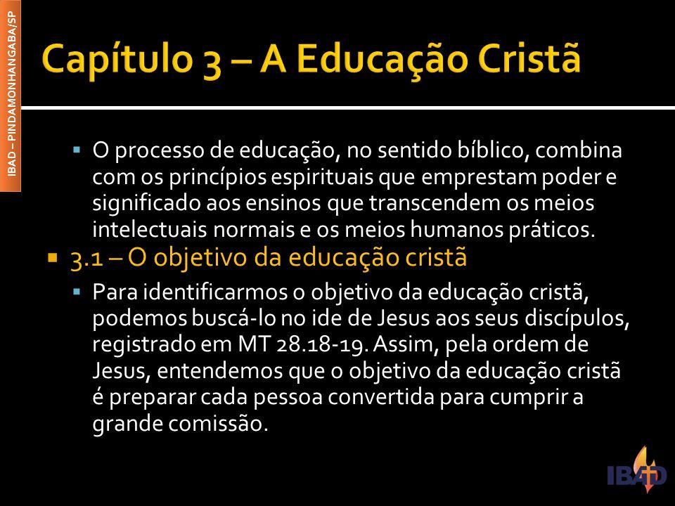 Capítulo 3 – A Educação Cristã