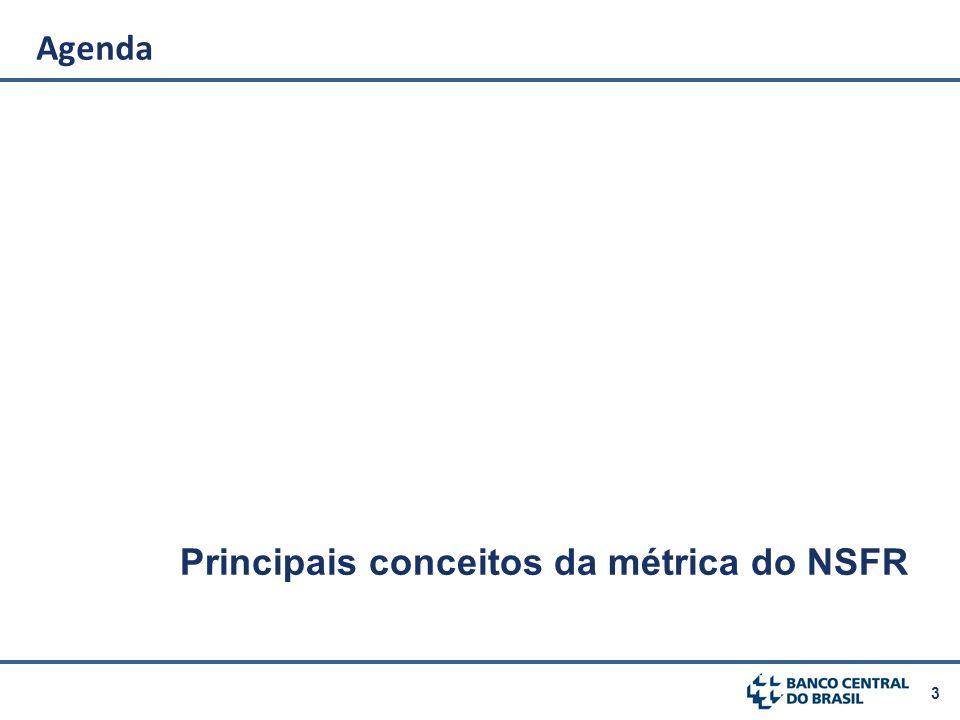 Agenda Principais conceitos da métrica do NSFR