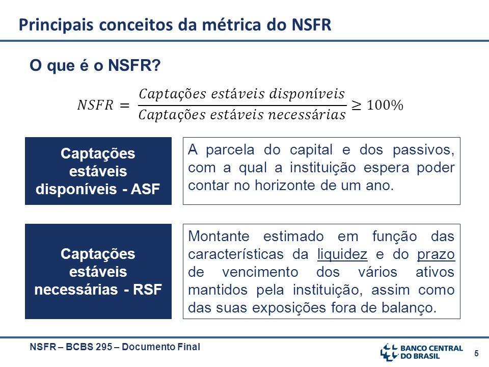 Principais conceitos da métrica do NSFR