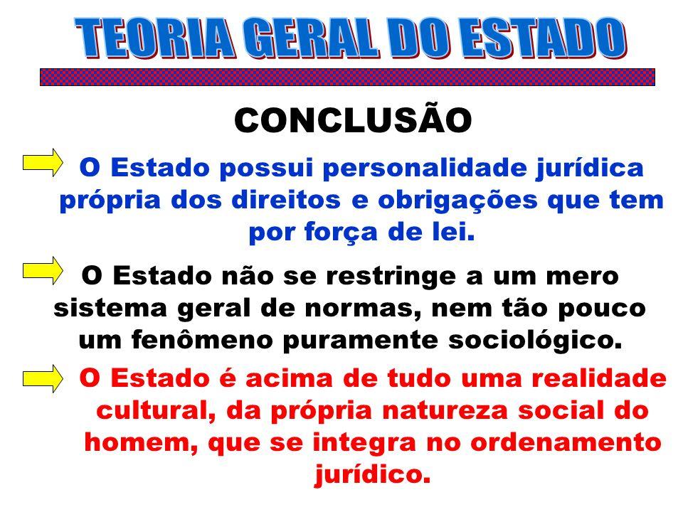 TEORIA GERAL DO ESTADO CONCLUSÃO
