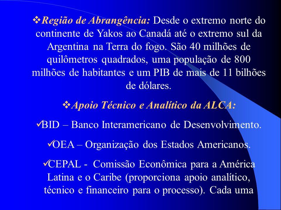 Apoio Técnico e Analítico da ALCA: