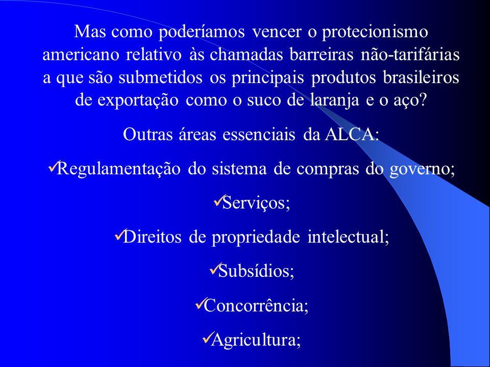Outras áreas essenciais da ALCA: