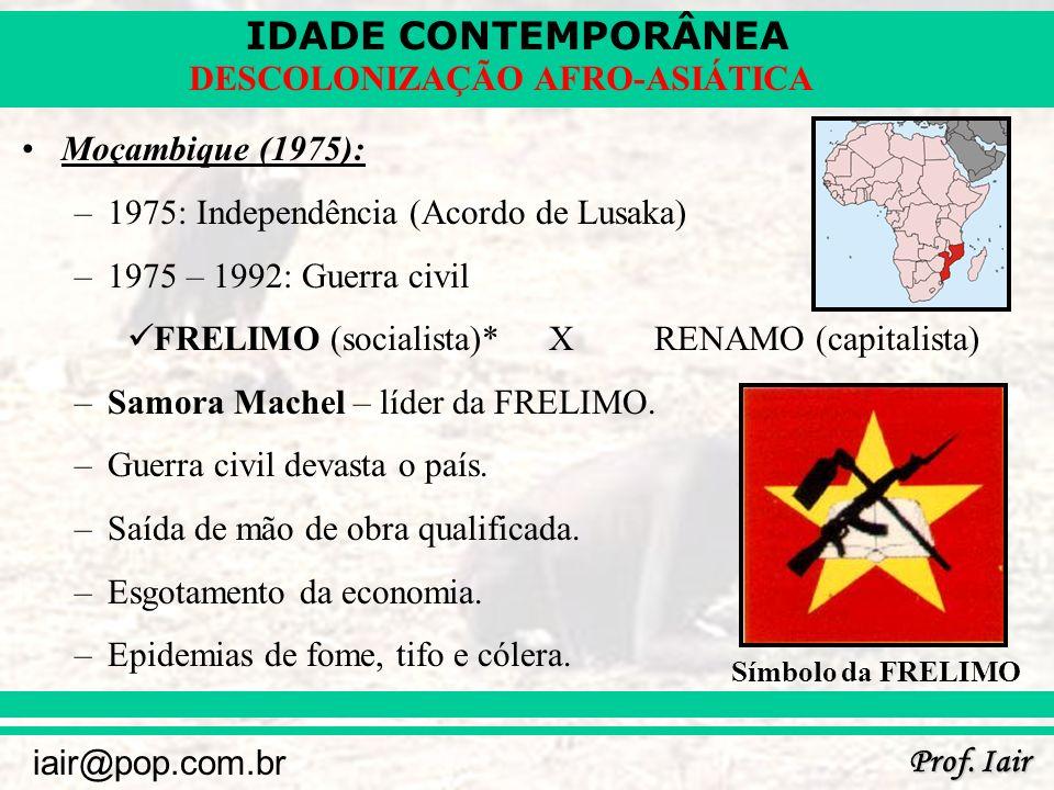 1975: Independência (Acordo de Lusaka) 1975 – 1992: Guerra civil