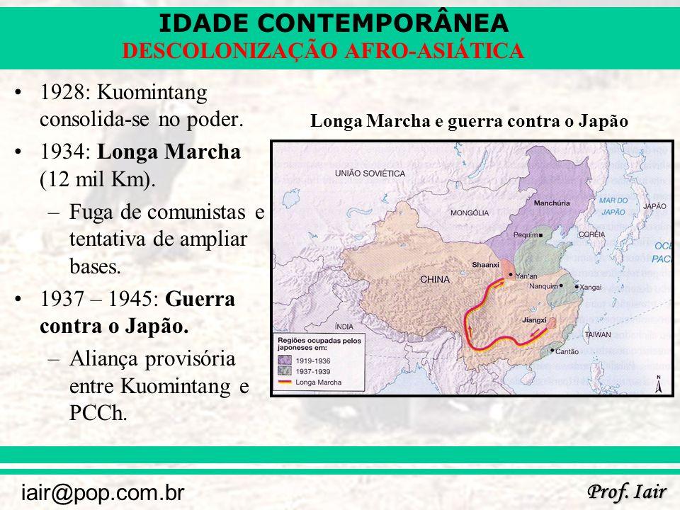1928: Kuomintang consolida-se no poder.